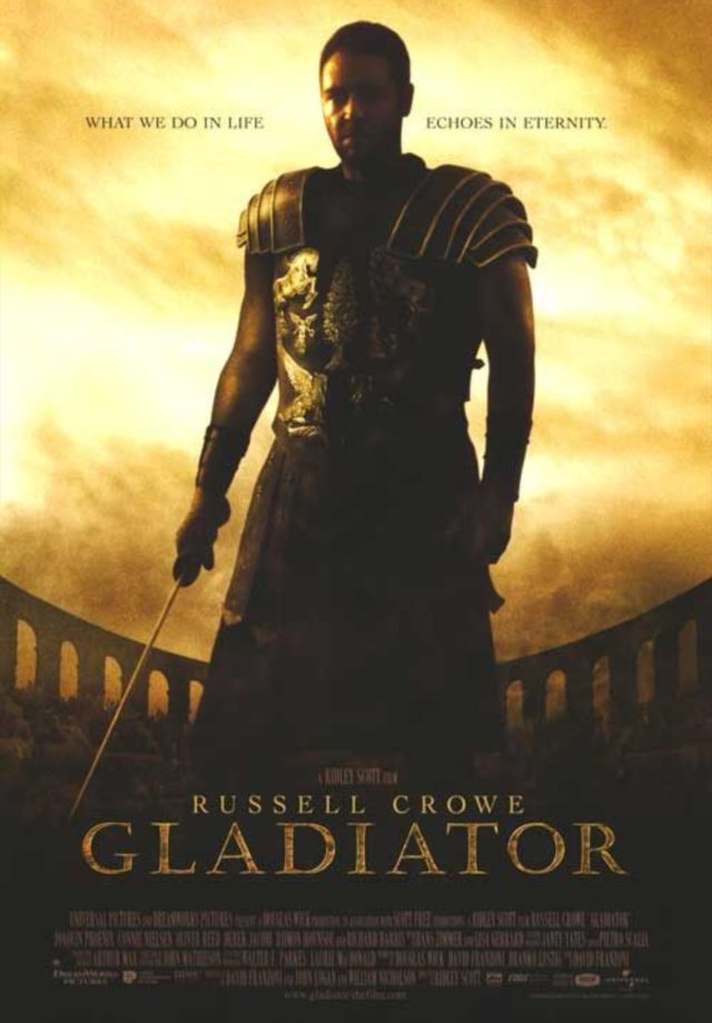 Il gladiatore Russell Crowe