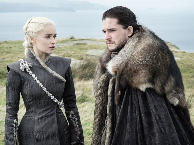 Daenerys Targayen e Jon Snow Napoli