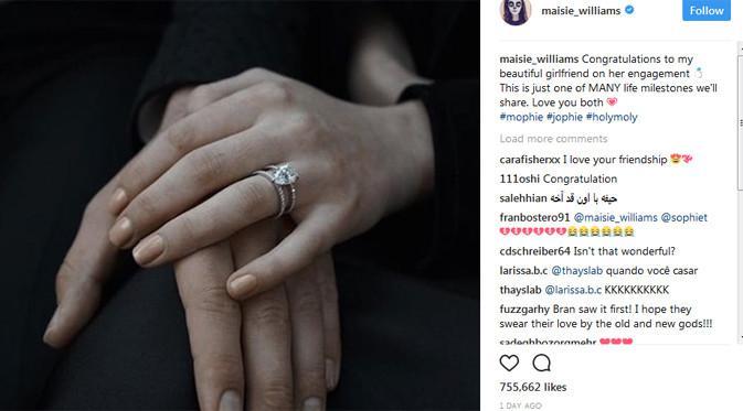 Maisie Williams congratulazioni