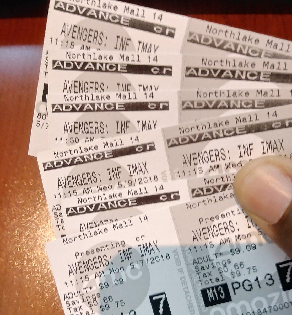 biglietti infinity war