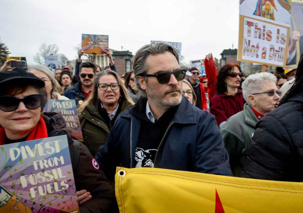 Joaquin Phoenix arrestato manifestazione
