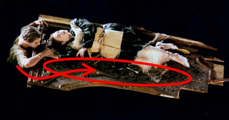 Titanic spiegazione zattera